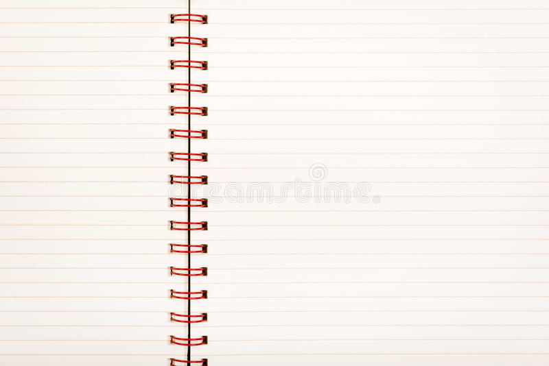 Caderno de papel alinhado imagem de stock royalty free