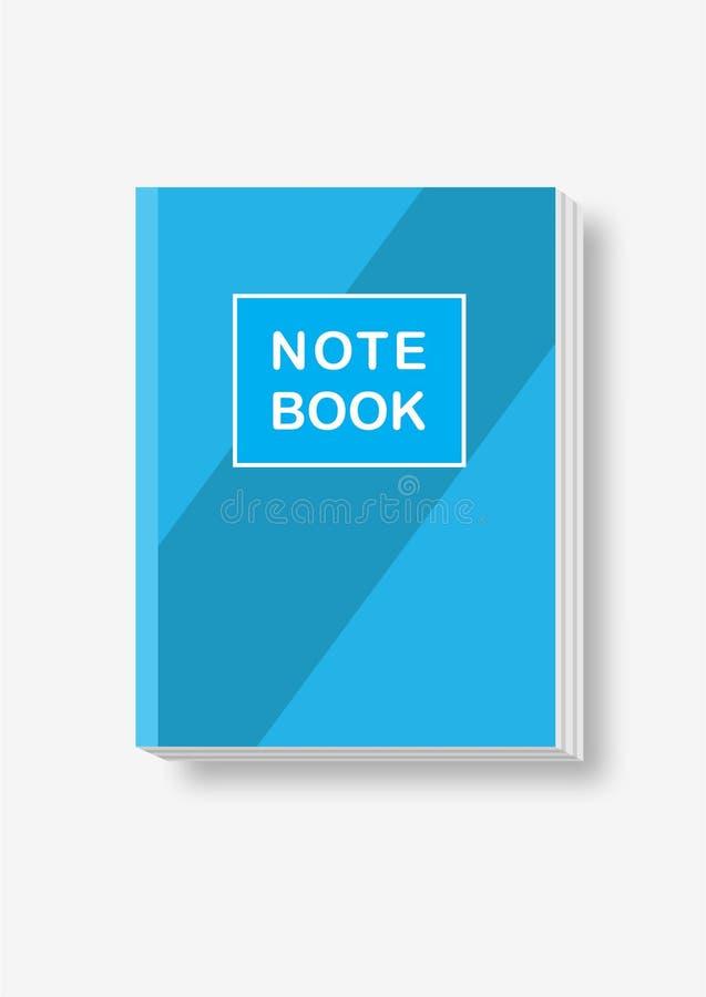 Caderno do azul do vetor fotos de stock royalty free