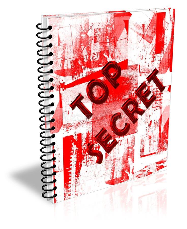 Caderno do segredo máximo ilustração stock