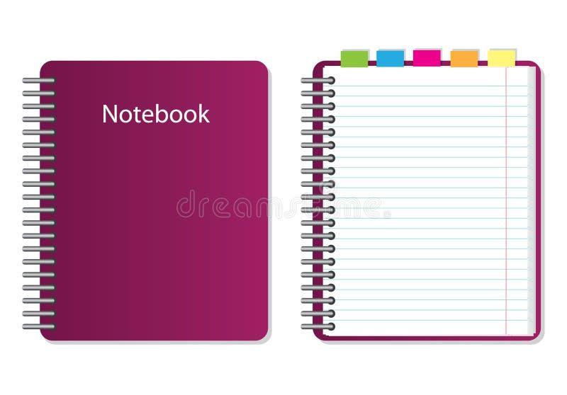 Caderno do vetor ilustração do vetor