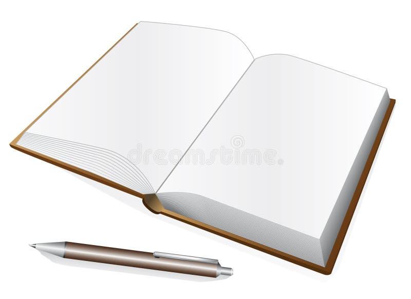 Caderno e pena ilustração royalty free