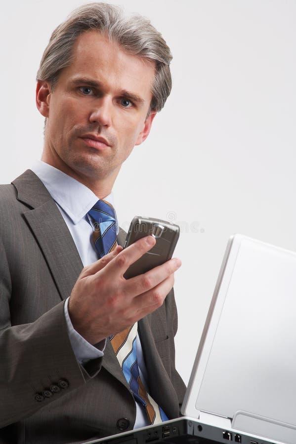 Caderno e telefone móvel foto de stock royalty free