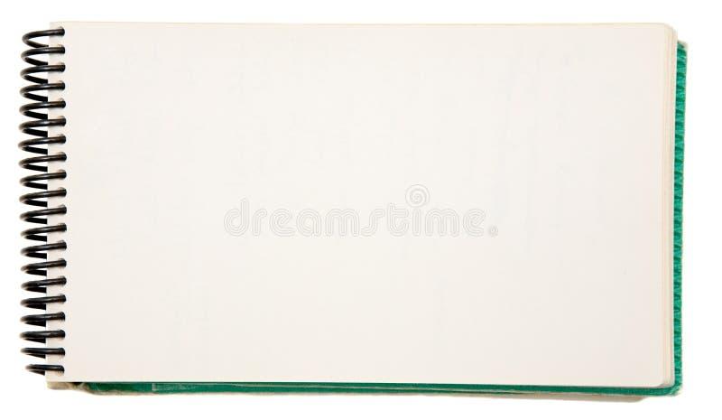 Caderno em branco fotografia de stock royalty free