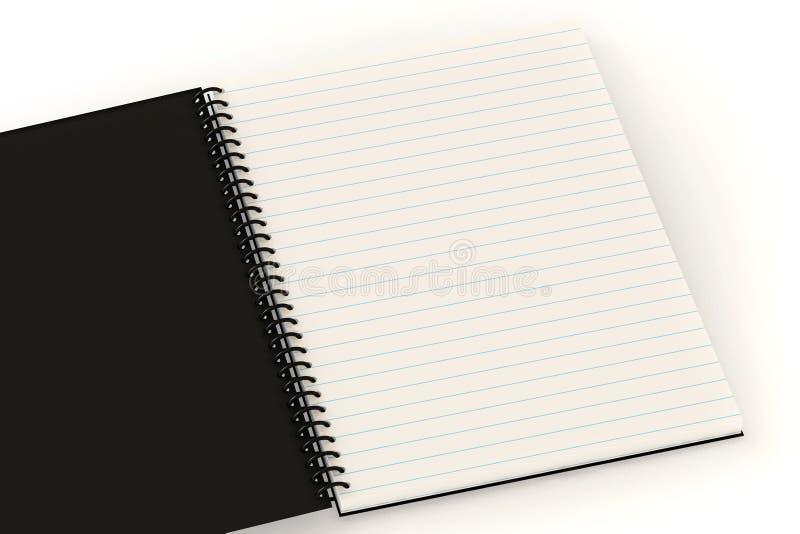 Caderno em branco ilustração royalty free