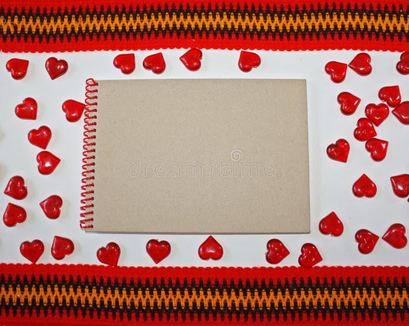 Caderno em um fundo branco fotos de stock royalty free