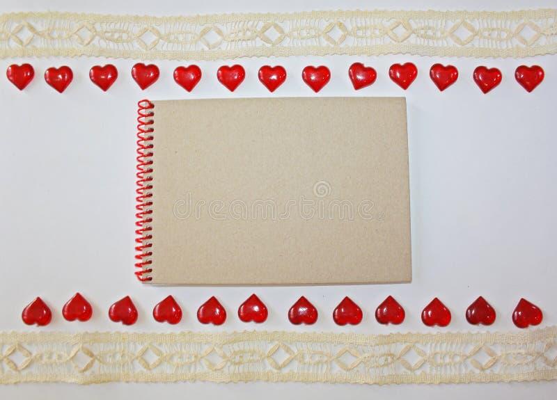 Caderno em um fundo branco fotografia de stock royalty free