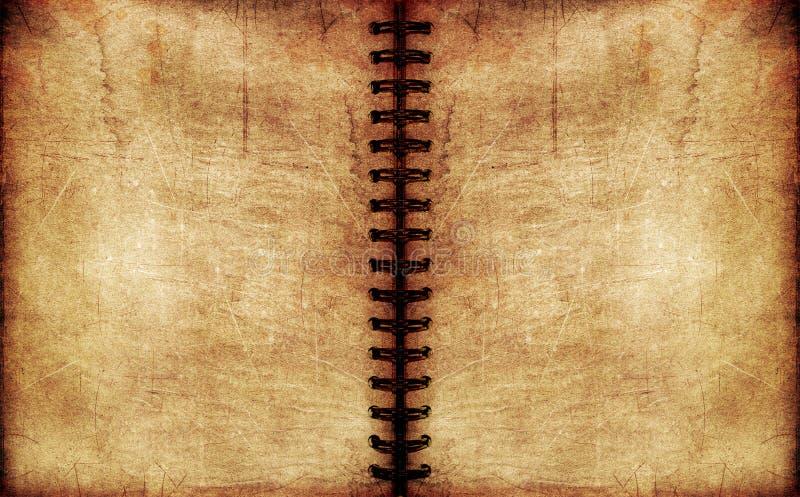 Caderno espiral do vintage foto de stock royalty free