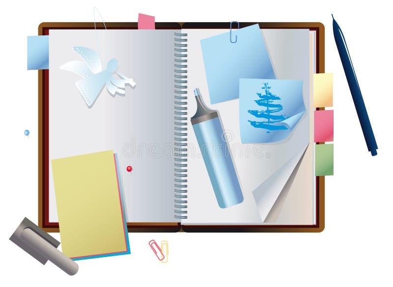 Caderno expor ilustração royalty free