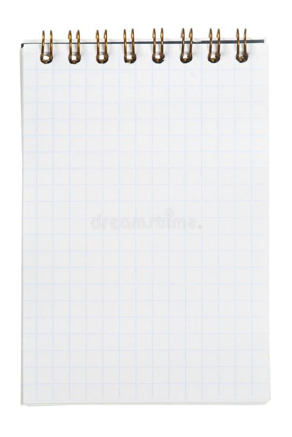 Caderno no branco imagem de stock royalty free