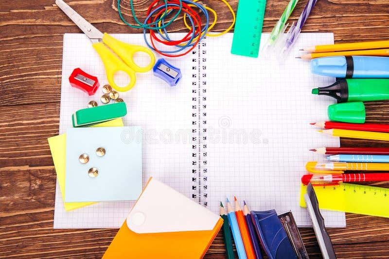 caderno vazio aberto imagem de stock