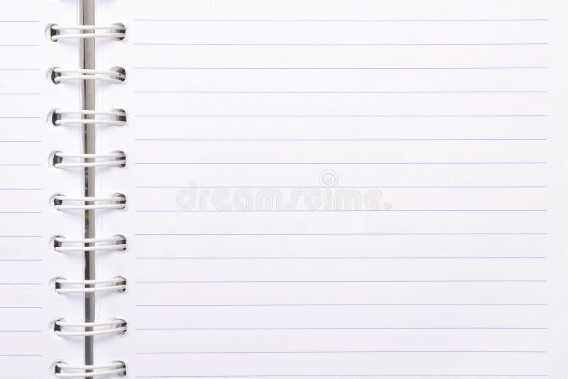Caderno vazio com linha papel imagens de stock royalty free