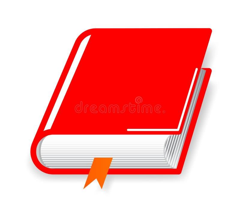 Caderno vermelho do diário do livro ilustração stock