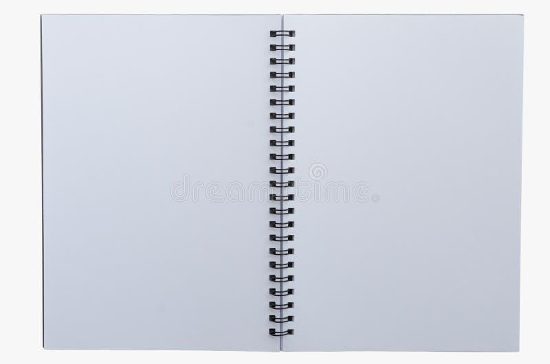 Caderno Wirebound isolado no fundo branco imagem de stock