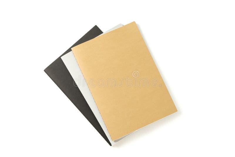 Cadernos com a estrutura de papel isolada fotografia de stock royalty free