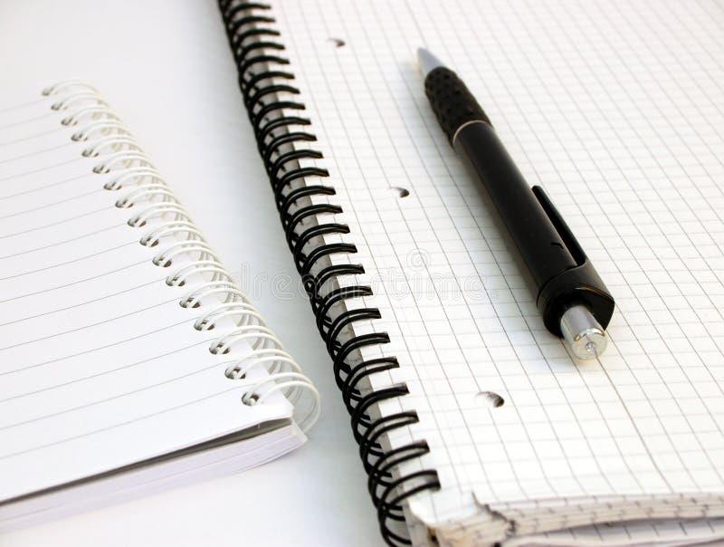 Cadernos e pena #3 imagens de stock royalty free