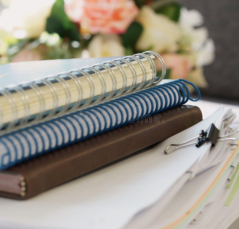 Cadernos e pilha de original foto de stock royalty free