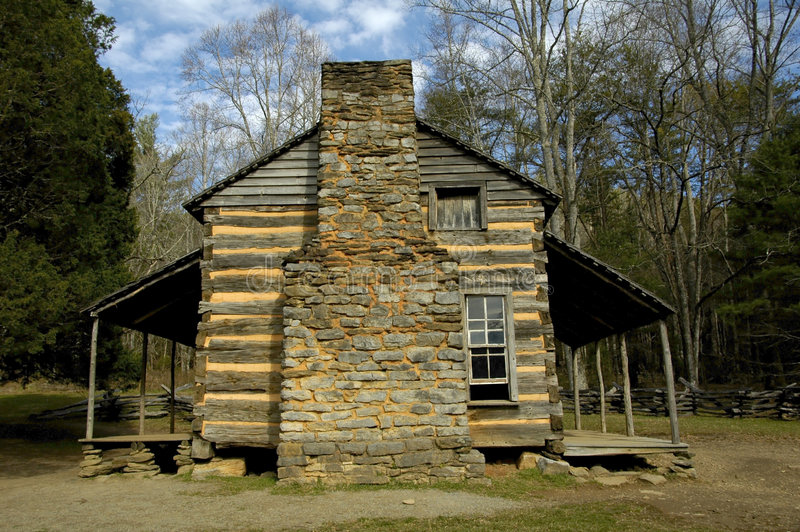 Download Cades Cove - John Oliver Cabin 5 Stock Image - Image: 1535811