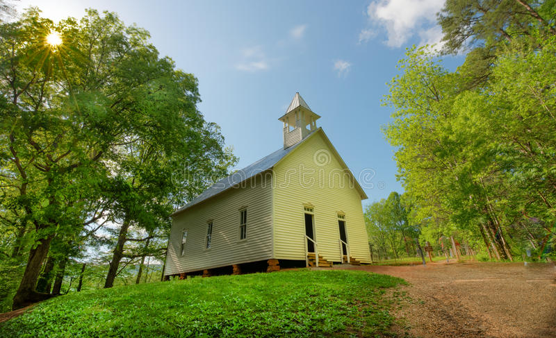Cades Cove Methodist Church Great Smoky Mountain National Park royalty free stock photos