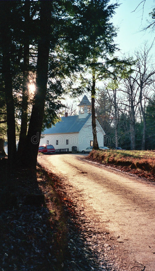 Cades Cove Primitive Baptist Church stock image