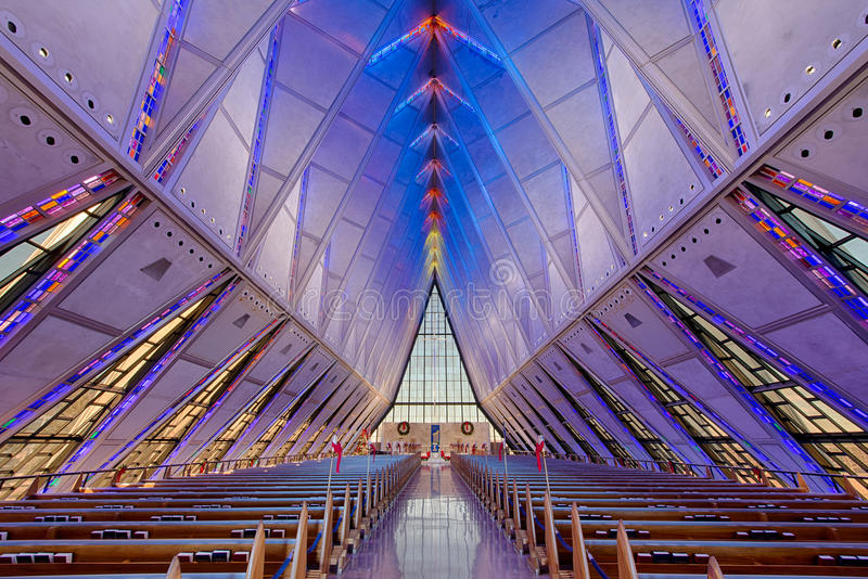 Download Cadet Chapel stock image. Image of glass, academy, contemporary - 28437341