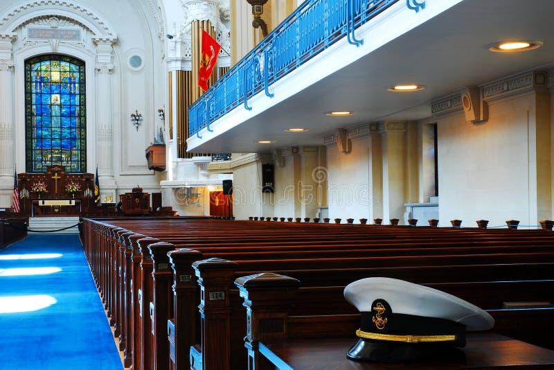 Cadet& x27; s-kapell, sjö- akademi för Förenta staterna, Annapolis royaltyfri foto