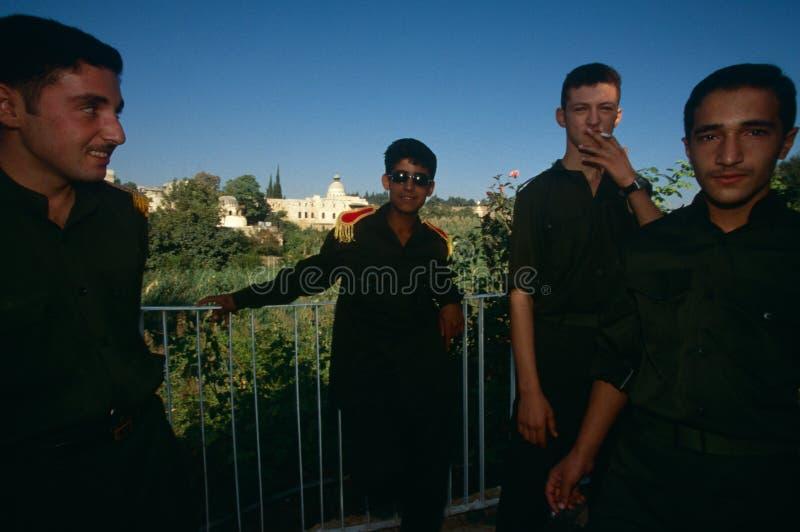 Cadetes del ejército, Hama, Siria fotos de archivo libres de regalías