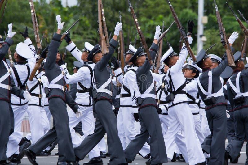 Cadetes filipinos de la academia militar imágenes de archivo libres de regalías