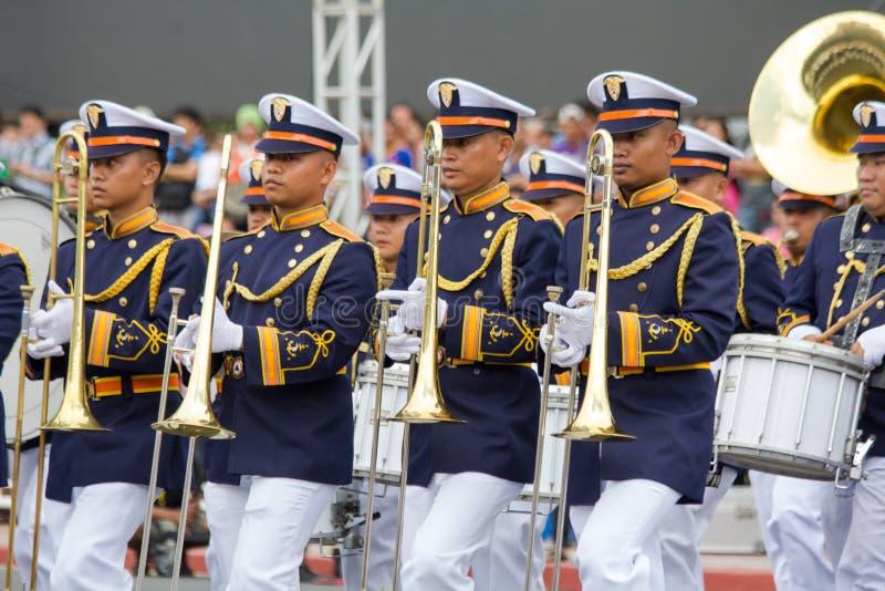 Cadetes filipinos de la academia militar foto de archivo
