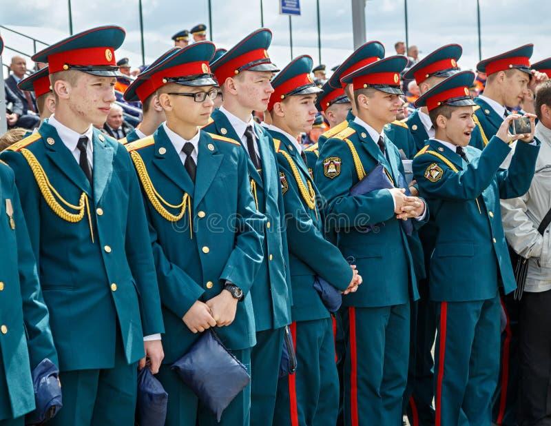 Cadets de l'académie de la protection civile d'EMERCOM de la Russie image libre de droits