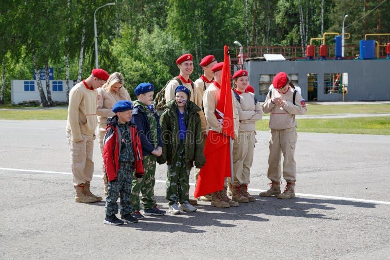 Cadets de la jeune armée de la Russie image stock