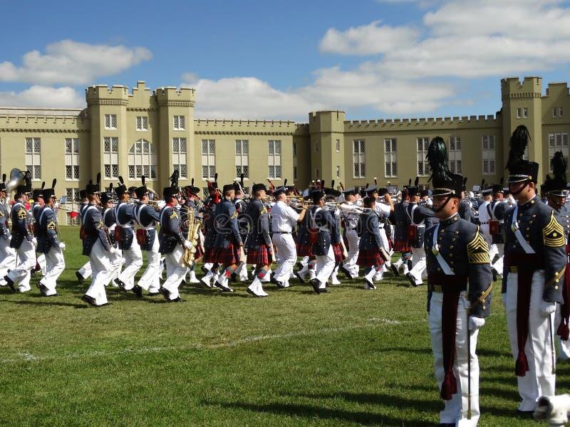 Cadets för Virginia militära institut (VMI) royaltyfri fotografi