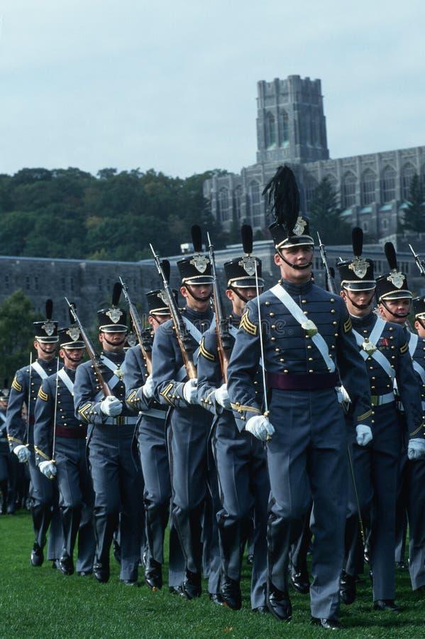 Cadets marchant à l'académie militaire de Westpoint photographie stock