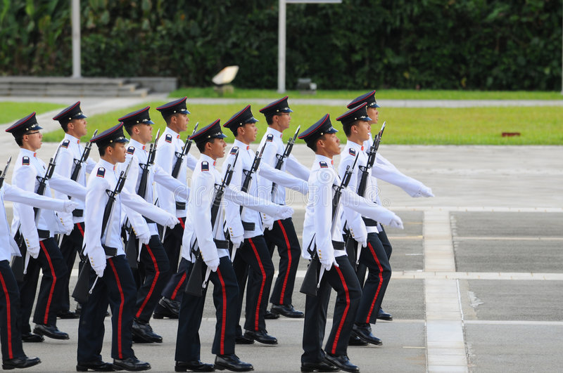 Cadets marching royalty free stock photo