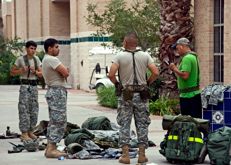 Cadets in training. On Nov 12, Cadets of ROTC (reserve officer training corps), students of University of Texas at Brownsville and Texas Southmost College, are stock photos