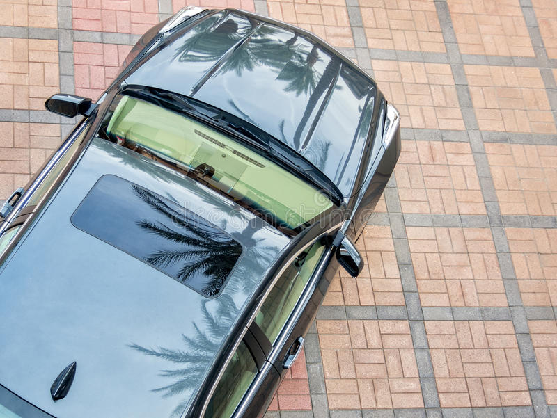 Cadillac. As seen from above royalty free stock images