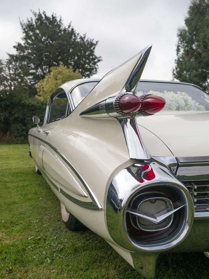 Cadillac branco fotografia de stock