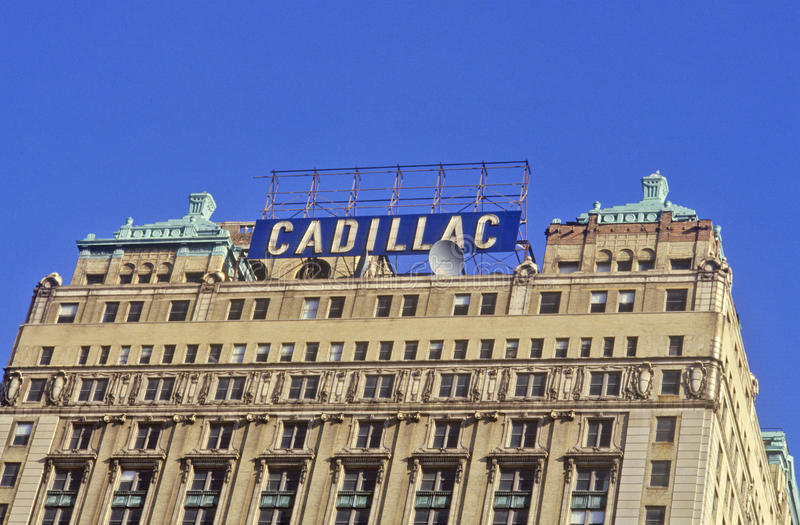 Cadillac Building in downtown Detroit, MI stock images
