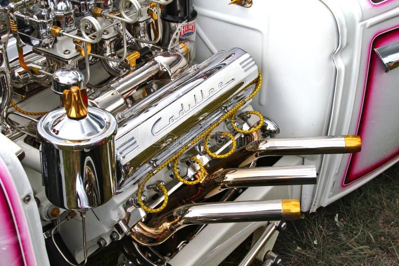 Cadillac cromado v8 imagem de stock royalty free