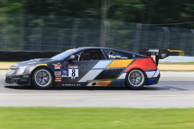 Cadillac CTS-V Coupe on race track royalty free stock photos