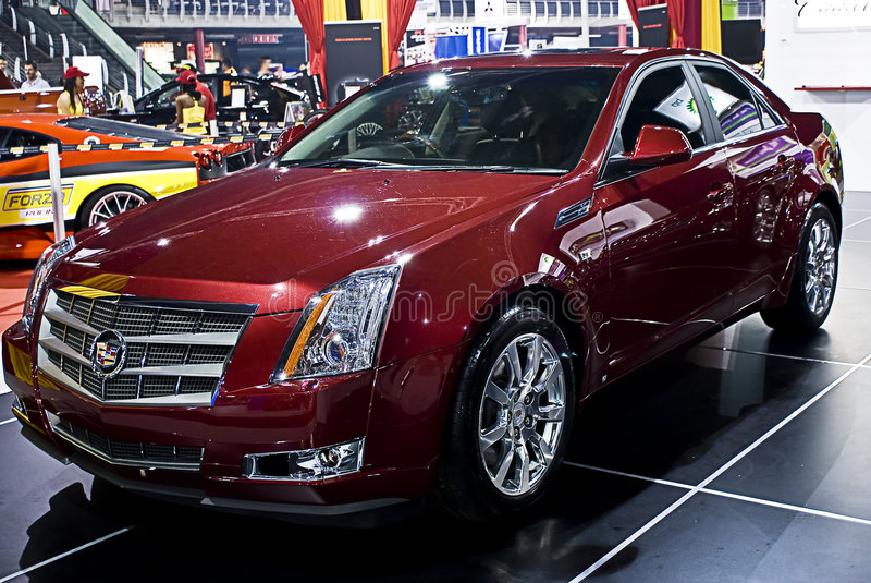 Cadillac CTS - VoorKant - MPU stock afbeeldingen