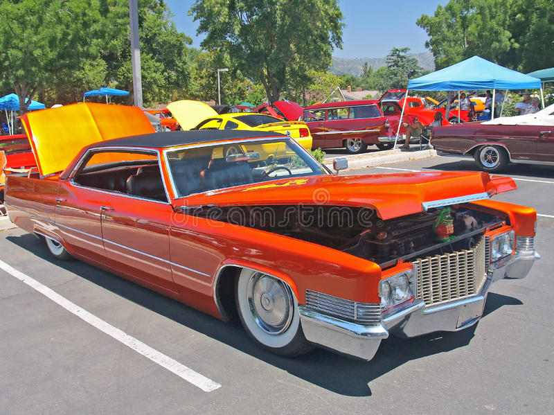 Classic Cadillac Low Riders Editorial Stock Image - Image of exotic