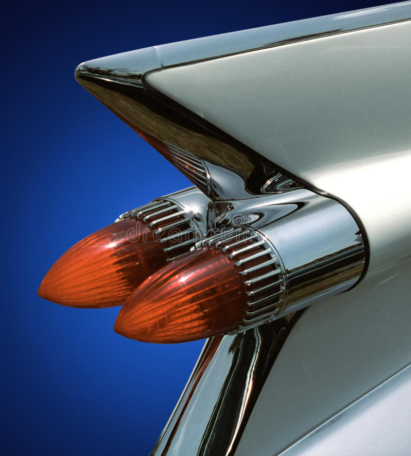 Download Cadillac fin on blue stock photo. Image of auto, crazy - 12765798