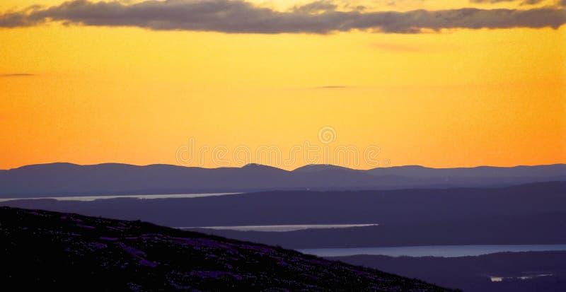 cadillac góry słońca obrazy stock
