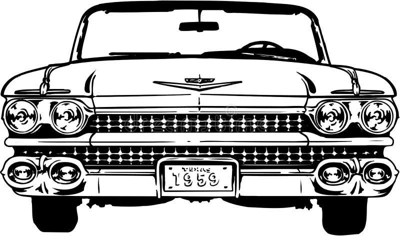 Cadillac-Illustration 1959 lizenzfreie abbildung