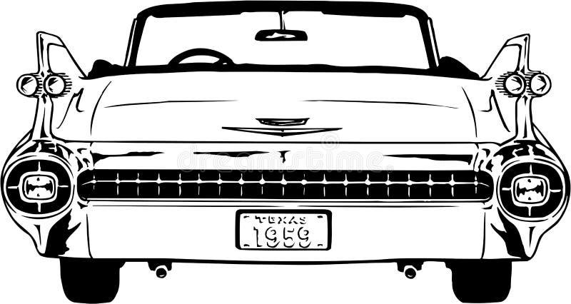Cadillac-Illustration 1959 stock abbildung