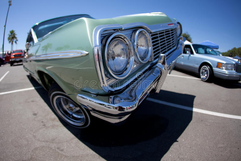 Cadillac Impala Lowrider Grill stock photography