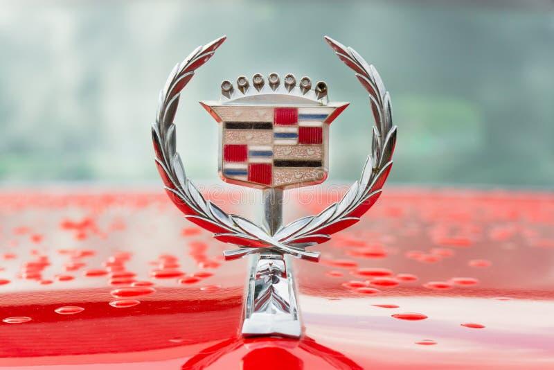 Cadillac logo, emblem of car stock photos