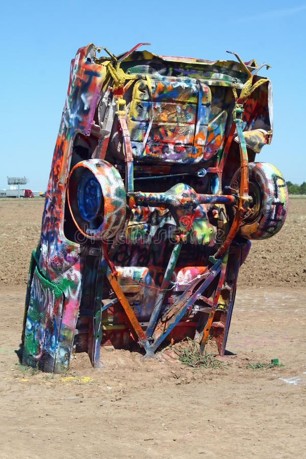 cadillac ranch royaltyfria foton