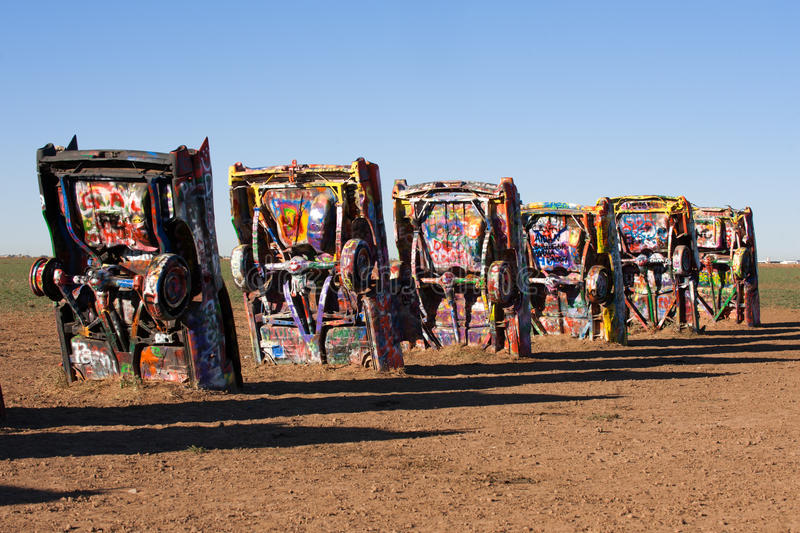 Download Cadillac Ranch editorial photography. Image of abstract - 16788397
