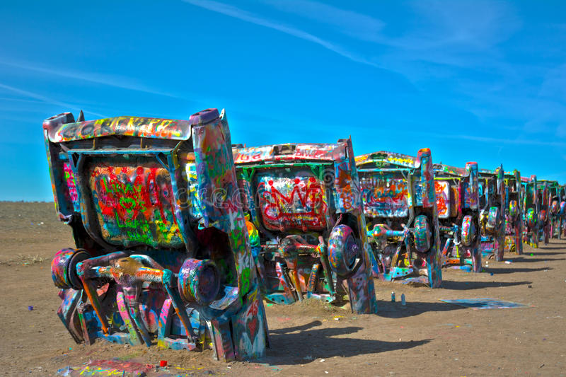 Download Cadillac ranch stock photo. Image of austin, chip, michels - 70623720